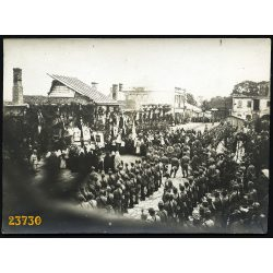 Magyar katonák tábori misén, 1. világháború, 1916. július 3,  1910-es évek, Eredeti fotó, papírkép.