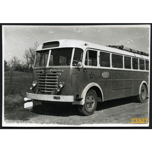 Ikarus 601 távolsági autóbusz, busz, Dobogókő, jármű, közlekedés, 1955, 1950-es évek, Eredeti fotó, papírkép.