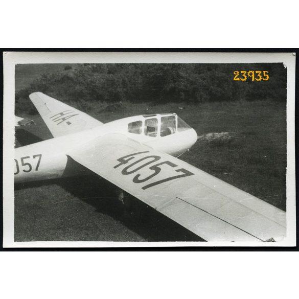 Rubik R-22 Futár vitorlázó repülőgép, jármű, közlekedés, 1950-es évek, Eredeti fotó, papírkép.