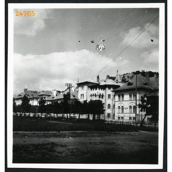 Utcarészlet, Brassó, Erdély, városkép, 1933, 1930-as évek, Eredeti fotó, papírkép.