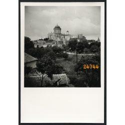 Esztergom látképe a Bazilikával, város, 1930-as évek, Eredeti fotó, papírkép.