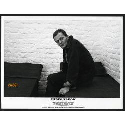 Darvas Iván színész a Hideg napok című filmben, Kovács András rendezte, filmfotó, vitrinfotó, 1966, 1960-as évek, Eredeti nagyobb méretű fotó, papírkép.