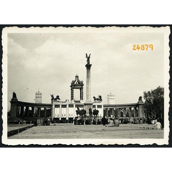 Eucharisztikus Világkongresszus, Budapest, Hősök tere, vallás, egyház, 1938, 1930-as évek, Eredeti fotó, papírkép.