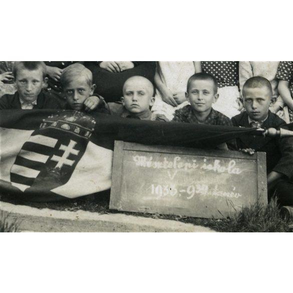 Mésztelep (Tatabánya, Felsőgalla) osztálykép, iskola, gyerekek, 1939, 1930-as évek, Eredeti fotó, papírkép.