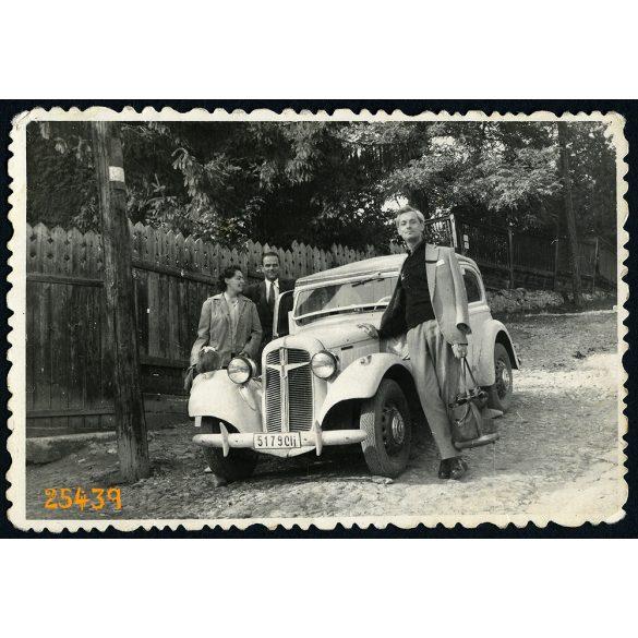 Adler Trumpf kabrió limuzin, Kolozsvár, Erdély, autó, jármű, közlekedés, 1960, 1960-as évek, Eredeti fotó, papírkép.