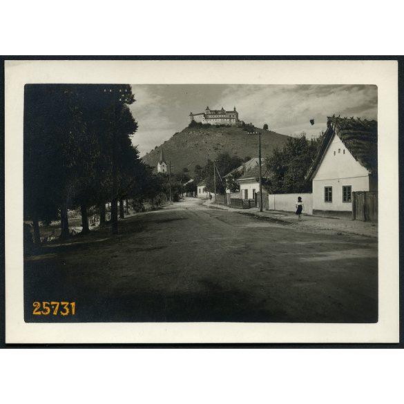 Krasznahorka, Krasznahorkaváralja,  Felvidék, vár, kastély, falu, 1930-as évek, Eredeti fotó, papírkép.