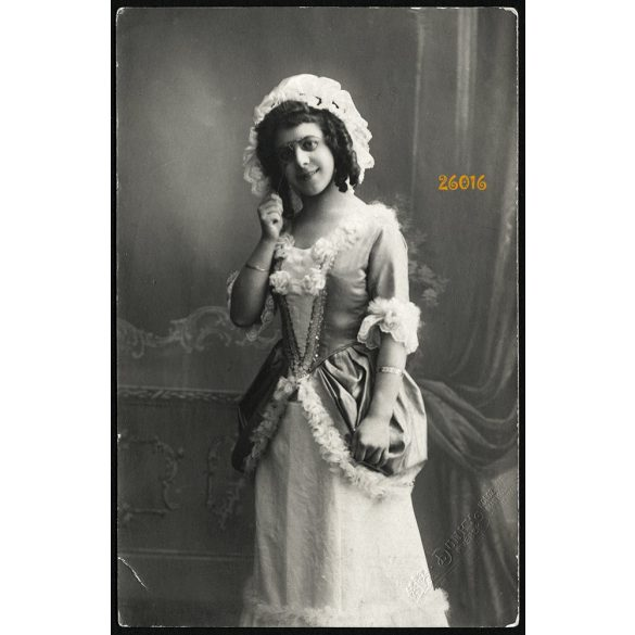 Dunky fivérek műterem, Kolozsvár, Erdély, elegáns hölgy lornyonnal, 1912, 1910-es évek, Eredeti fotó, papírkép.