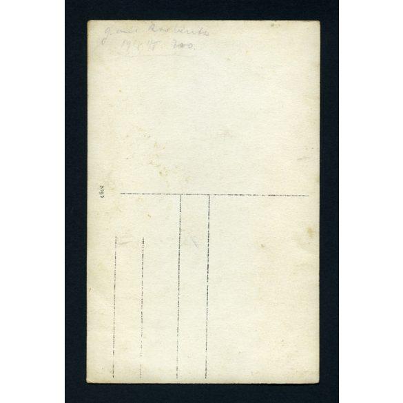 Magyar katonatiszt egyenruhában, bajusszal, 1. világháború, 1918, 1910-es évek, Eredeti fotó, papírkép.