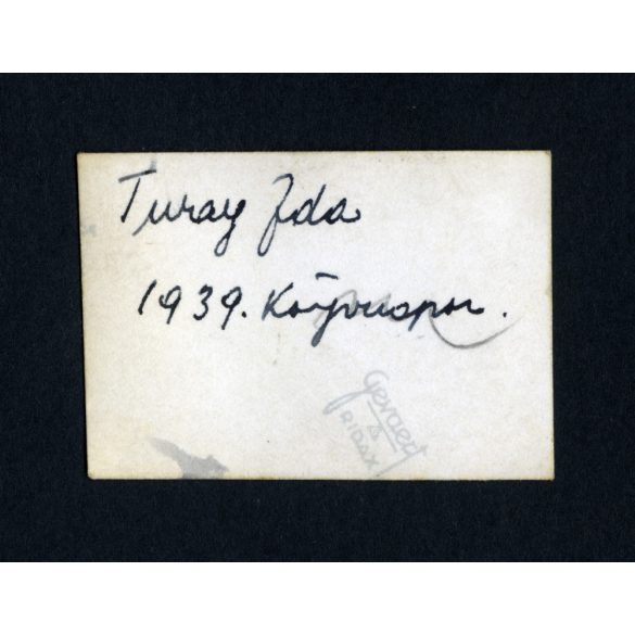 Turay Ida az 1939-es könyvnapon, Budapest, színész, film, 1930-as évek, Eredeti fotó, kisméretű papírkép.