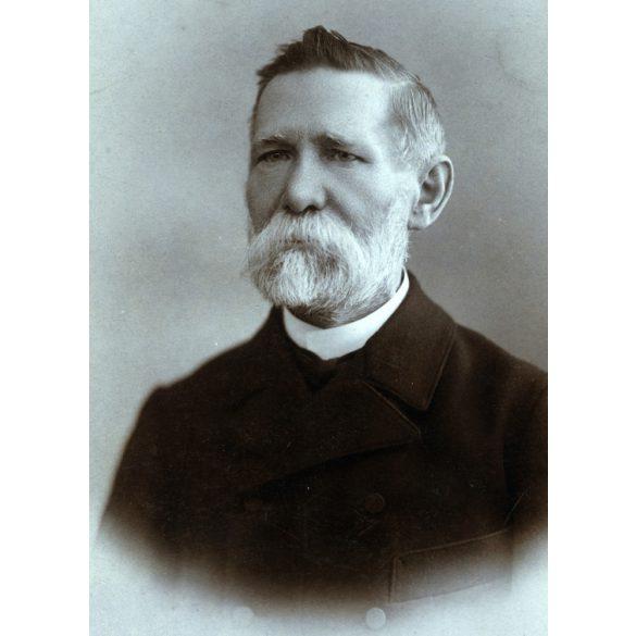 Erdélyi műterem, Budapest, szakállas férfi portréja, 1900-as évek, Eredeti nagyméretű (!) kabinetfotó, sarka sérült.
