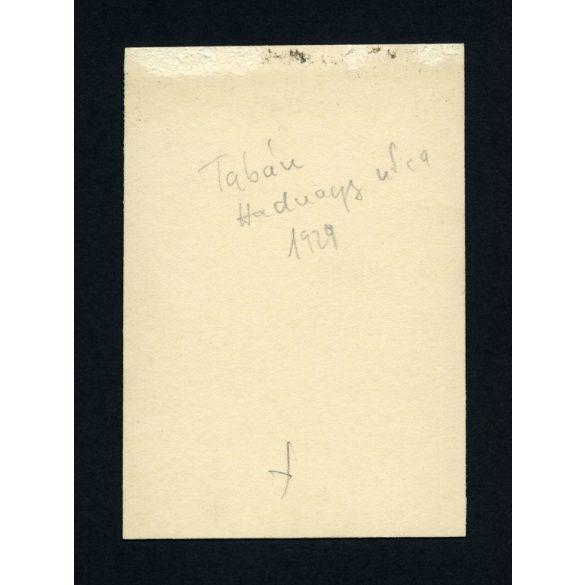 Tabán, Budapest, Hadnagy utca, autó, jármű, közlekedés, 1929, Eredeti fotó, papírkép.