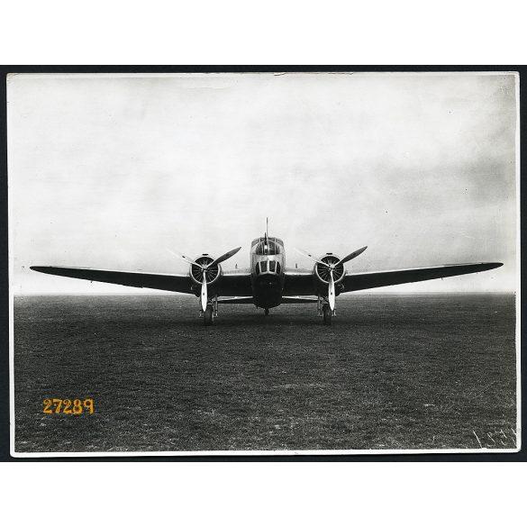 Fiat BR. 20 olasz bombázó, repülőgép, 2. világháború, katona, 1941, 1940-es évek, Eredeti nagyobb méretű fotó, papírkép.