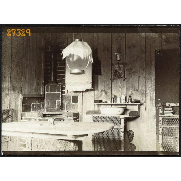 Magyar, K.u.K. tiszti szállás berendezése, 1. világháború, orosz front, 1910-es évek, Eredeti fotó, papírkép.