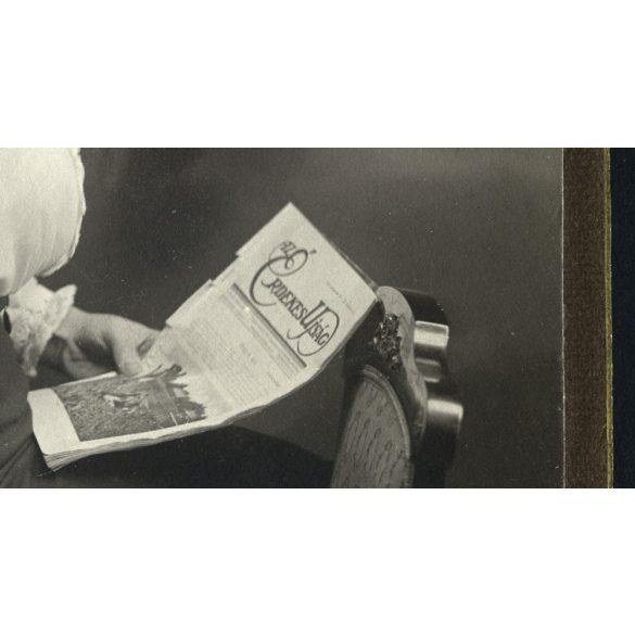 Auer Fivérek műterem, Szeged, Dr. Csupor Imréné portréja, Az Érdekes Újság, sajtó, 1910-es évek, Eredeti kabinetfotó.